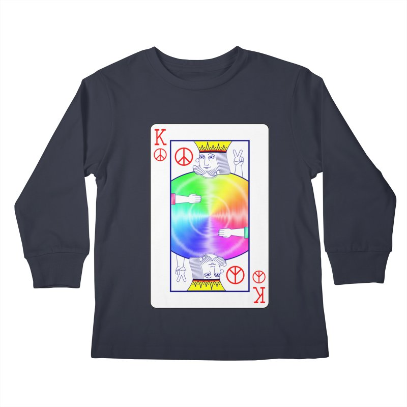Peace Rules Kids Longsleeve T-Shirt by Eriklectric's Artist Shop