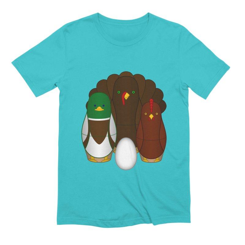 Turducken Men's Extra Soft T-Shirt by Eriklectric's Artist Shop