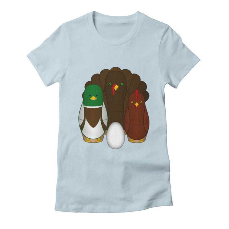 Turducken Women's Fitted T-Shirt by Eriklectric's Artist Shop