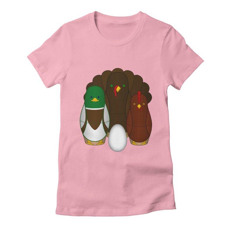 Turducken Women's Fitted T-Shirt by Eriklectric's Artist Shop