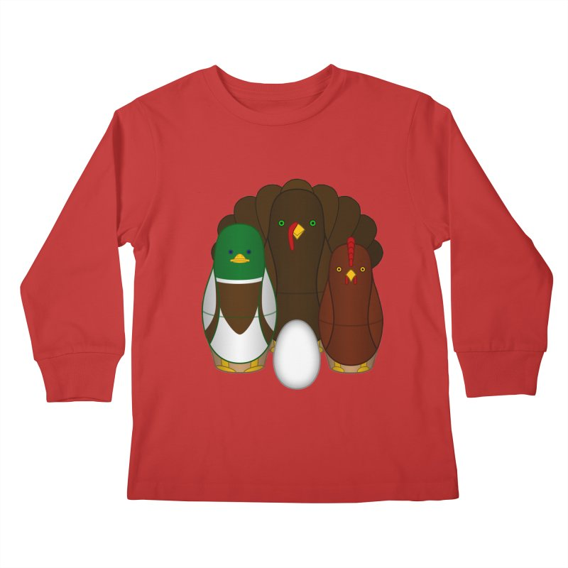 Turducken Kids Longsleeve T-Shirt by Eriklectric's Artist Shop