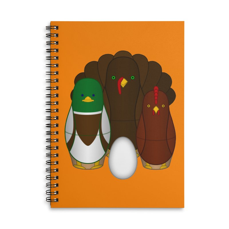Turducken Accessories Lined Spiral Notebook by Eriklectric's Artist Shop
