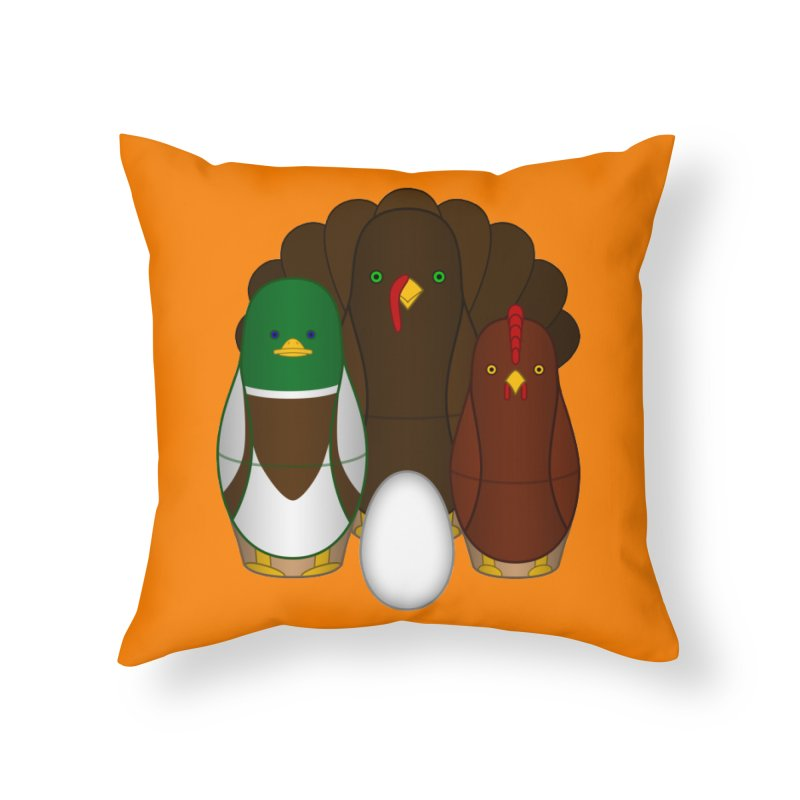 Turducken Home Throw Pillow by Eriklectric's Artist Shop