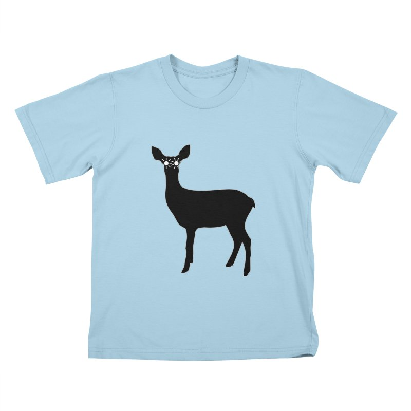 Deer with Headlights Kids T-Shirt by Eriklectric's Artist Shop