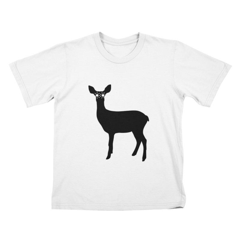 Deer with Headlights Kids T-Shirt by Eriklectric's Artist Shop