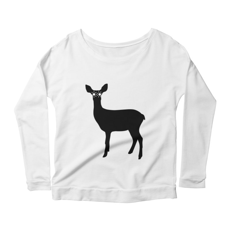 Deer with Headlights Women's Scoop Neck Longsleeve T-Shirt by Eriklectric's Artist Shop