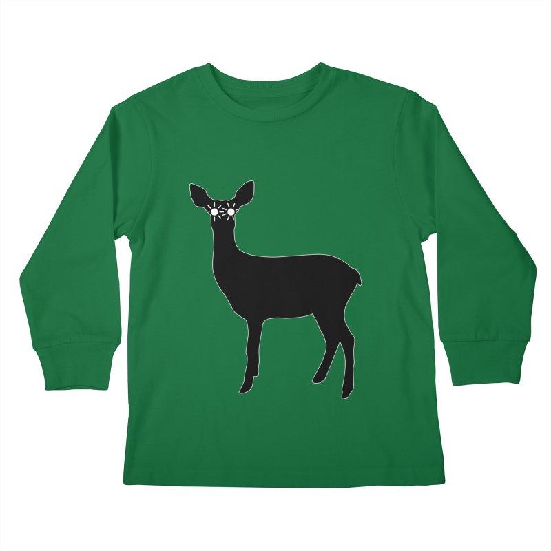 Deer with Headlights Kids Longsleeve T-Shirt by Eriklectric's Artist Shop