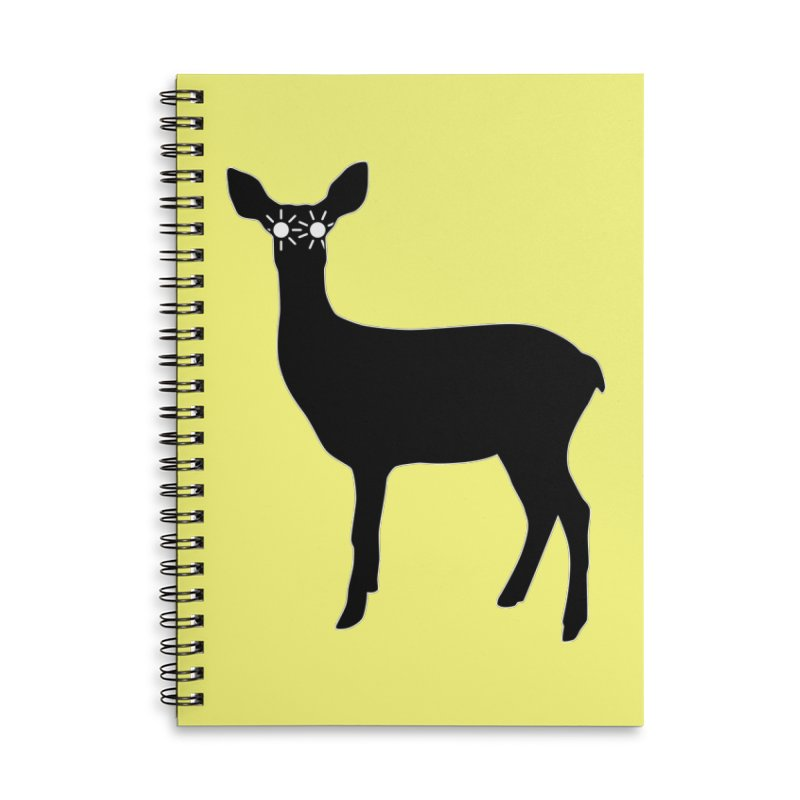 Deer with Headlights Accessories Lined Spiral Notebook by Eriklectric's Artist Shop