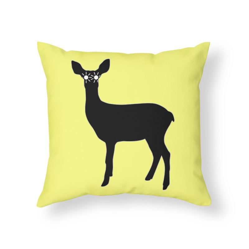 Deer with Headlights Home Throw Pillow by Eriklectric's Artist Shop