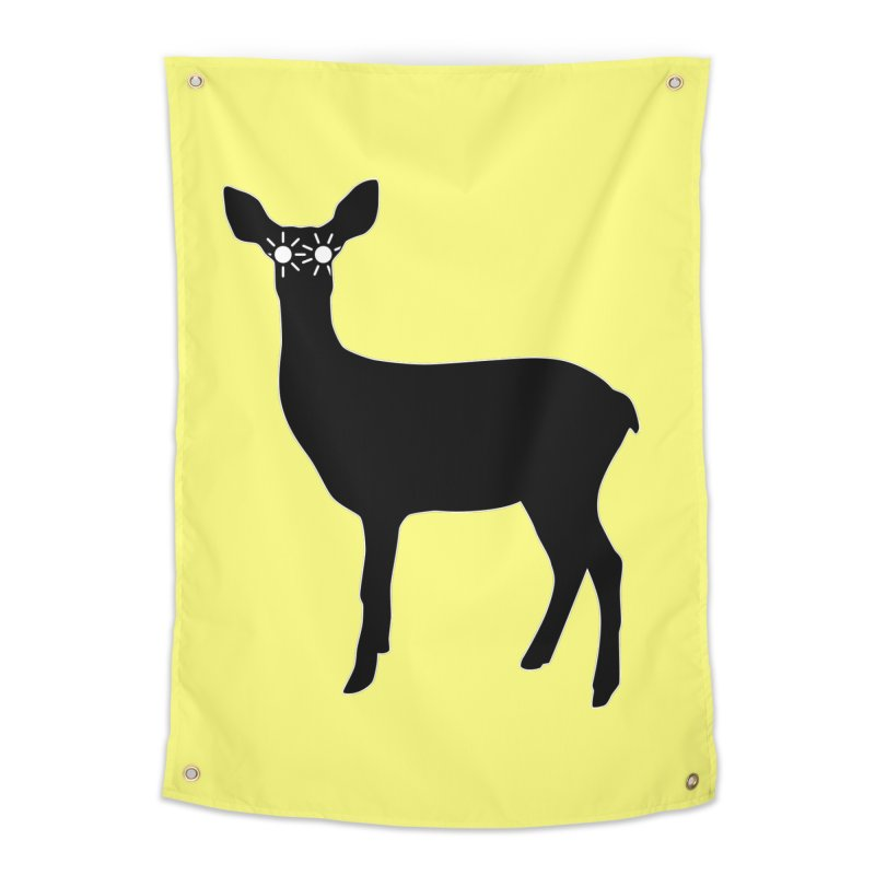 Deer with Headlights Home Tapestry by Eriklectric's Artist Shop