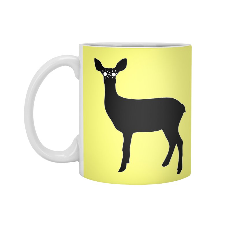 Deer with Headlights Accessories Standard Mug by Eriklectric's Artist Shop