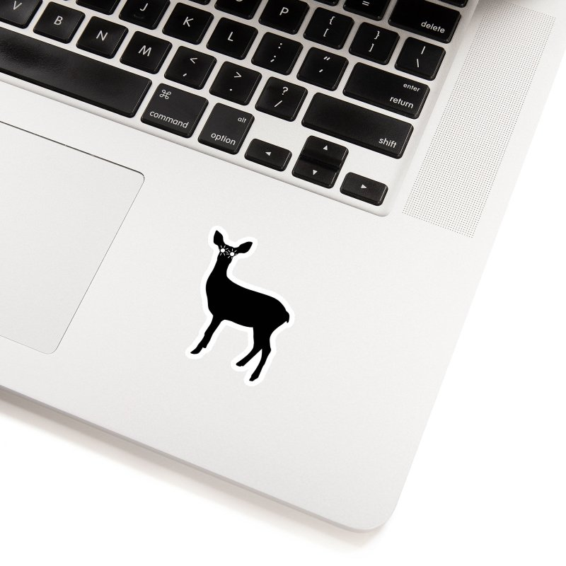Deer with Headlights Accessories Sticker by Eriklectric's Artist Shop