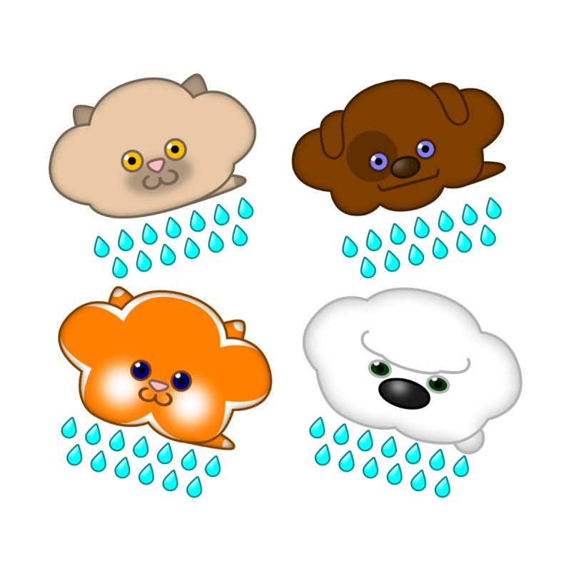 Raining Cats and Dogs by Eriklectric's Artist Shop