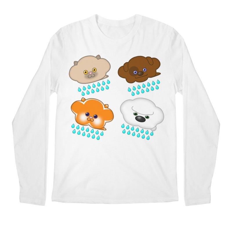 Raining Cats and Dogs Men's Regular Longsleeve T-Shirt by Eriklectric's Artist Shop