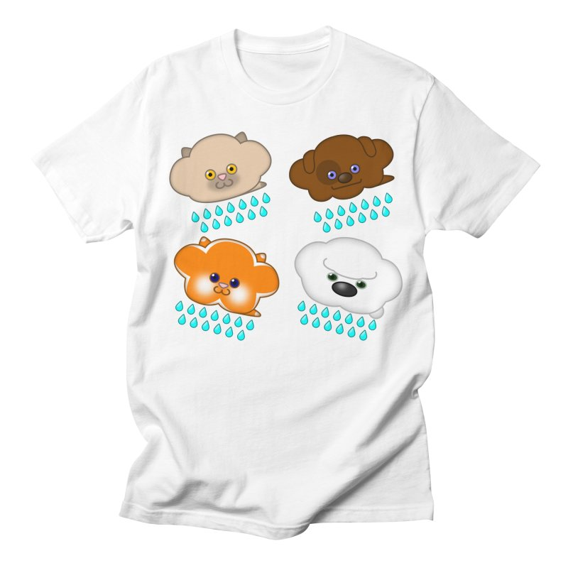 Raining Cats and Dogs Men's T-Shirt by Eriklectric's Artist Shop