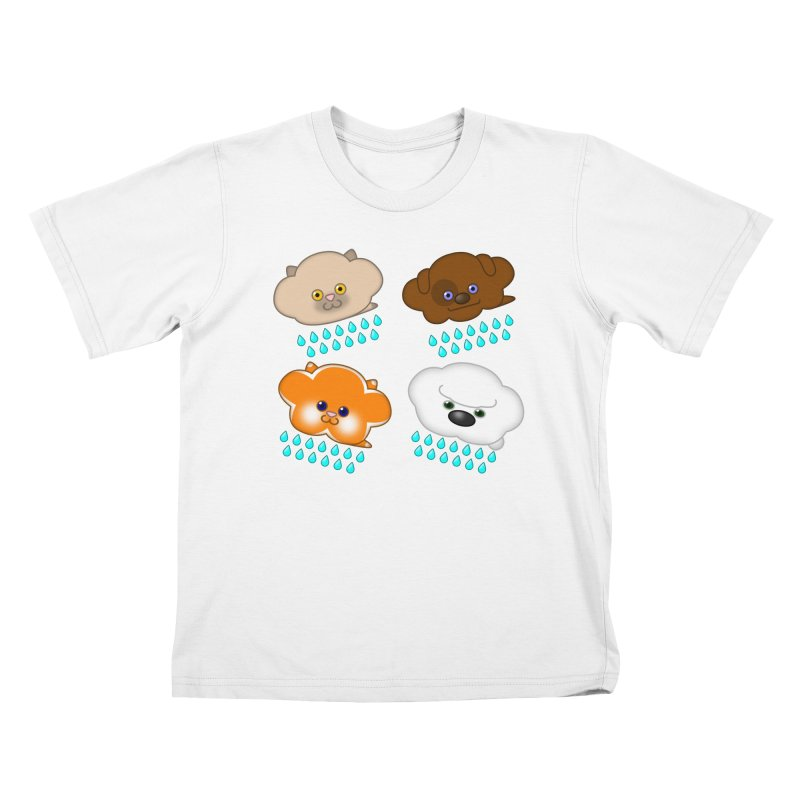 Raining Cats and Dogs Kids T-Shirt by Eriklectric's Artist Shop