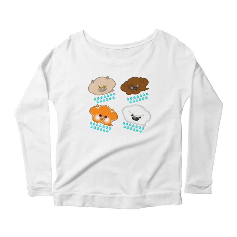 Raining Cats and Dogs Women's Scoop Neck Longsleeve T-Shirt by Eriklectric's Artist Shop