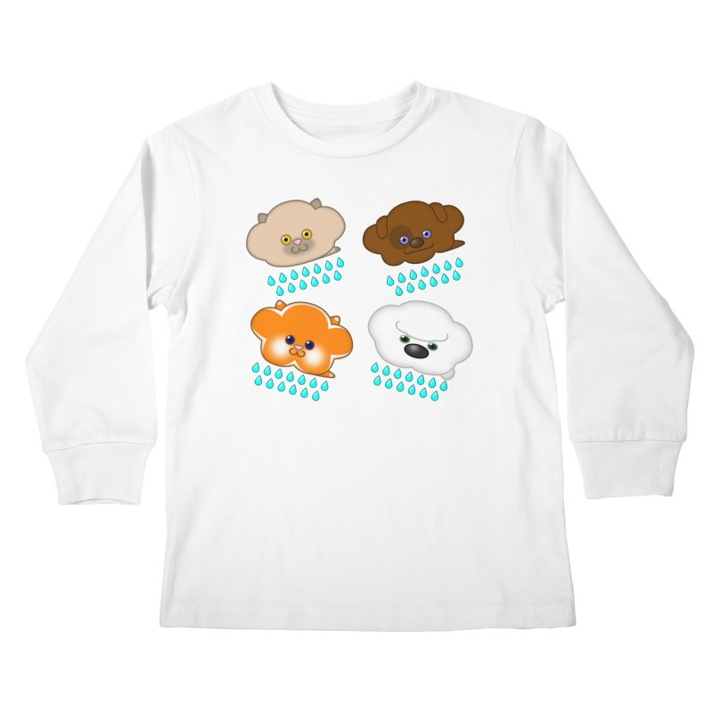 Raining Cats and Dogs Kids Longsleeve T-Shirt by Eriklectric's Artist Shop