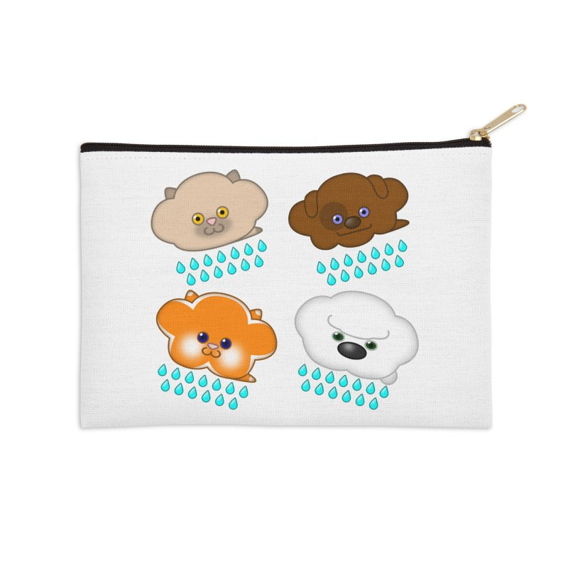 Raining Cats and Dogs Accessories Zip Pouch by Eriklectric's Artist Shop