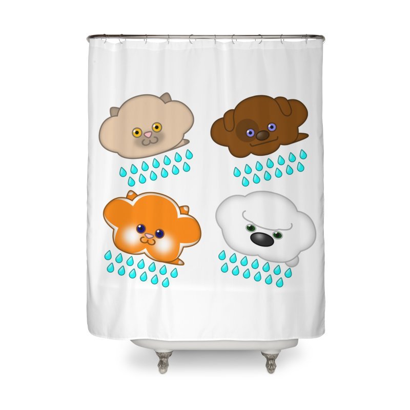 Raining Cats and Dogs Home Shower Curtain by Eriklectric's Artist Shop