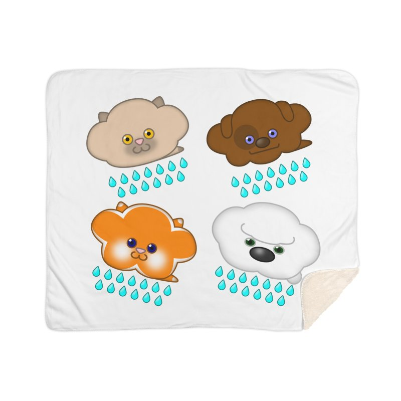 Raining Cats and Dogs Home Sherpa Blanket Blanket by Eriklectric's Artist Shop
