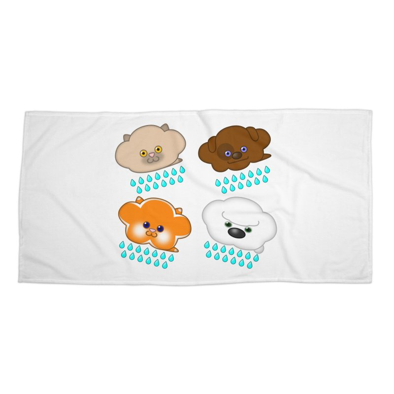 Raining Cats and Dogs Accessories Beach Towel by Eriklectric's Artist Shop