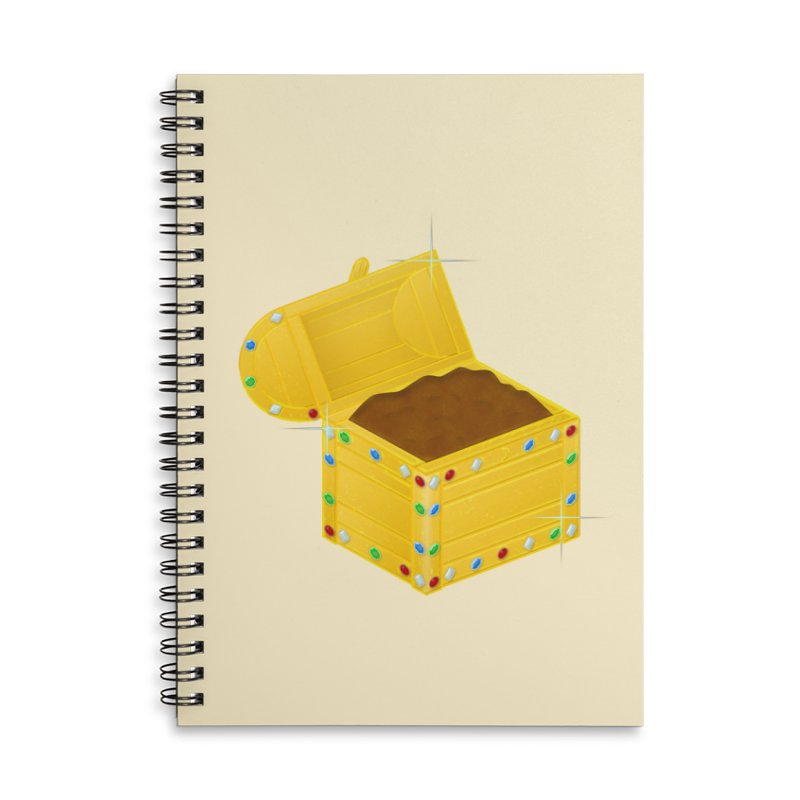 One Man's Treasure Accessories Lined Spiral Notebook by Eriklectric's Artist Shop