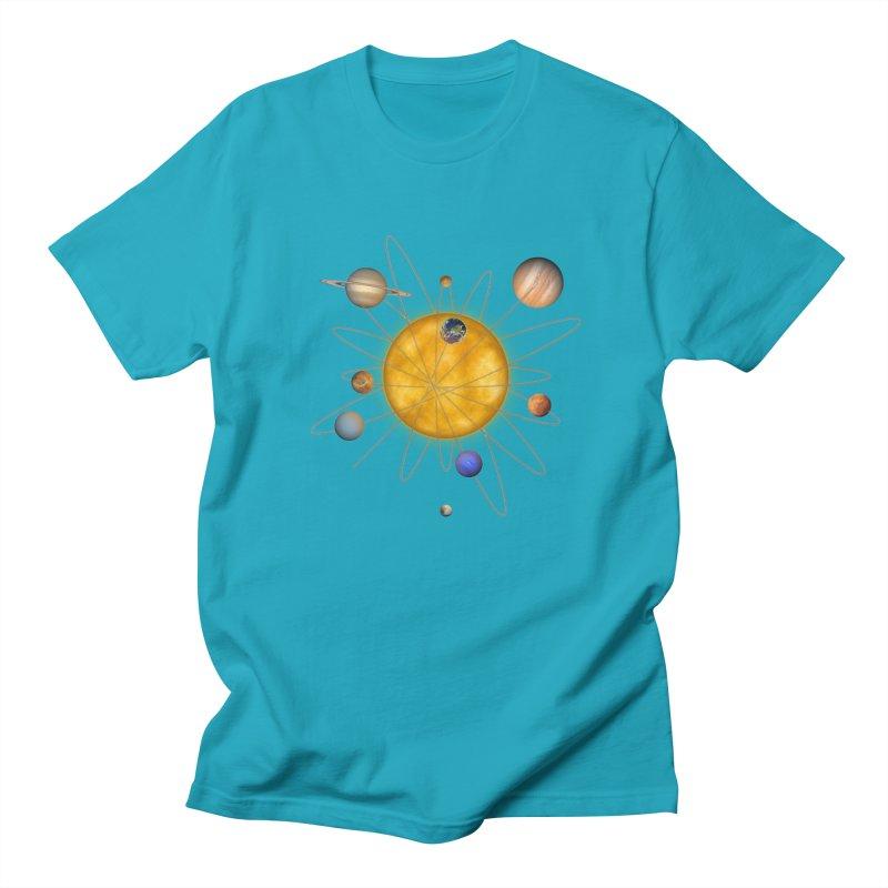 Solar System Atom Men's T-Shirt by Eriklectric's Artist Shop