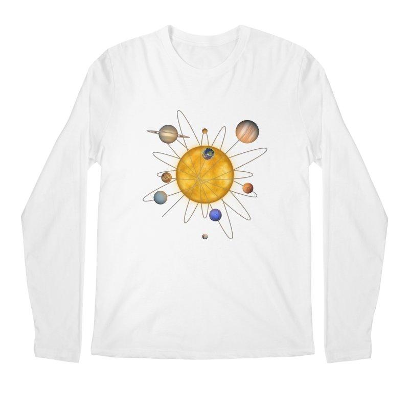Solar System Atom Men's Regular Longsleeve T-Shirt by Eriklectric's Artist Shop