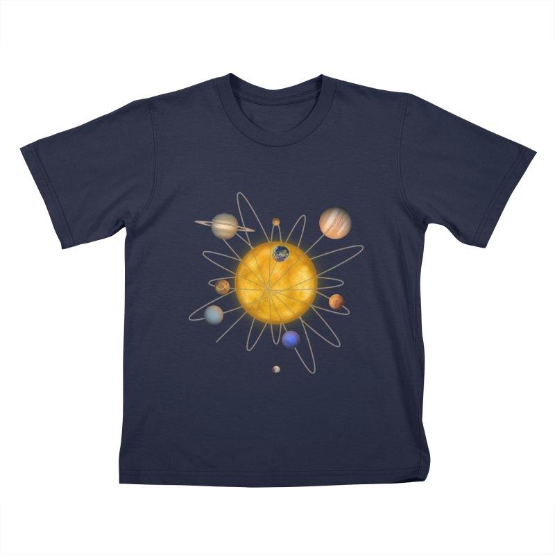 Solar System Atom Kids T-Shirt by Eriklectric's Artist Shop