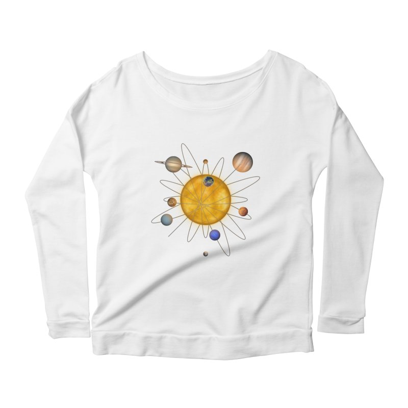 Solar System Atom Women's Scoop Neck Longsleeve T-Shirt by Eriklectric's Artist Shop