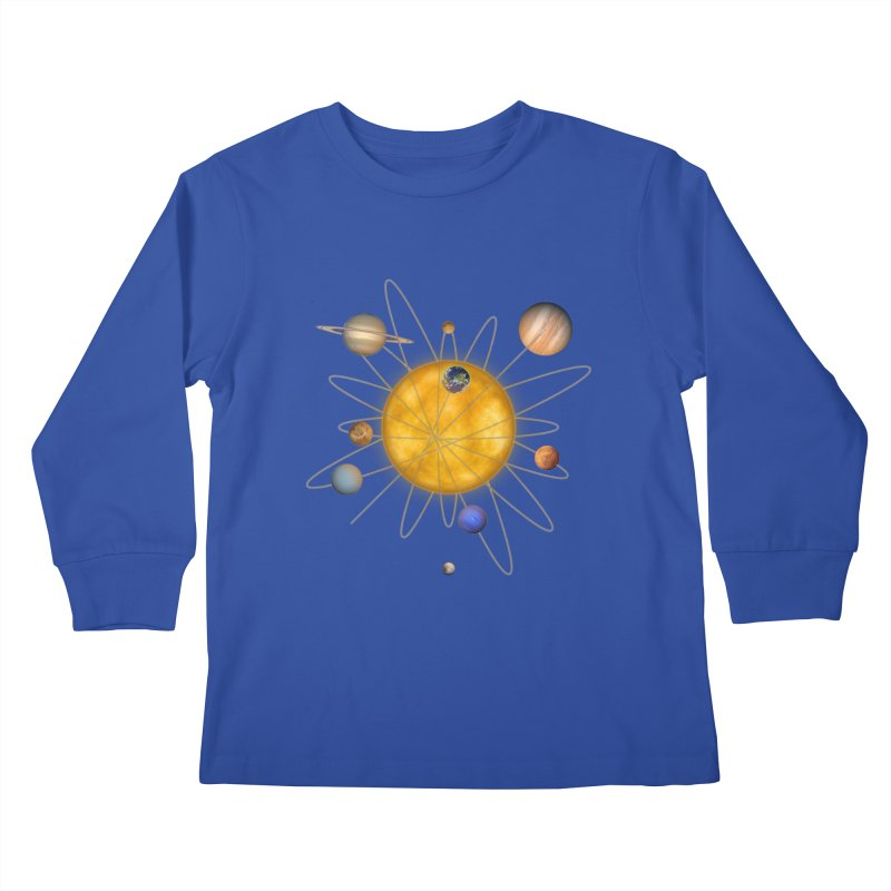 Solar System Atom Kids Longsleeve T-Shirt by Eriklectric's Artist Shop