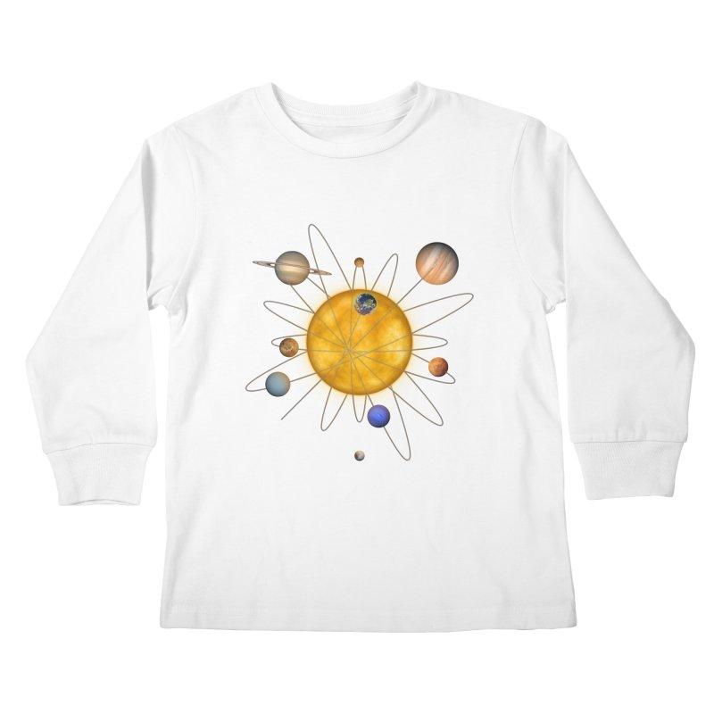 Solar System Atom Kids Longsleeve T-Shirt by Eriklectric's Artist Shop