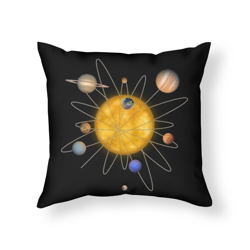 Solar System Atom Home Throw Pillow by Eriklectric's Artist Shop