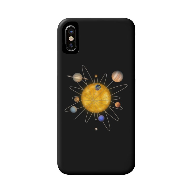 Solar System Atom Accessories Phone Case by Eriklectric's Artist Shop