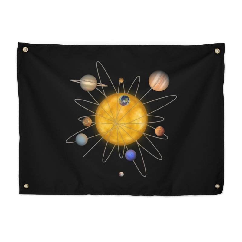 Solar System Atom Home Tapestry by Eriklectric's Artist Shop