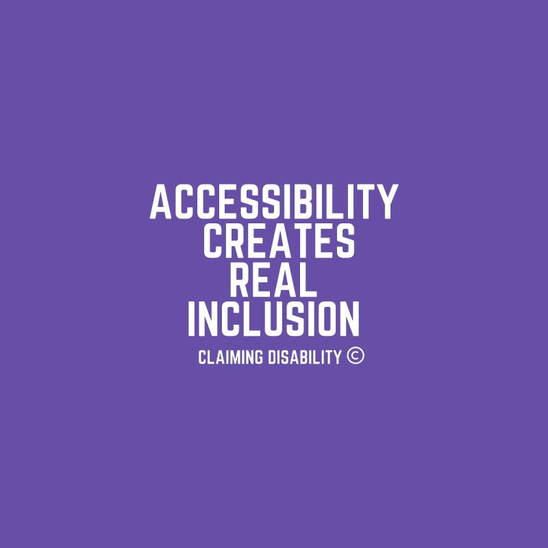 Accessibility Creates Real Inclusion Kids Pullover Hoody by Claiming Disability LLC