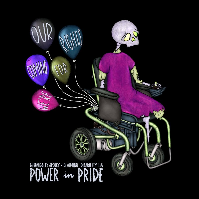 Power in Pride Celebration Tee Chronically Spooky x Claiming Disability LLC Home Framed Fine Art Print by Claiming Disability LLC