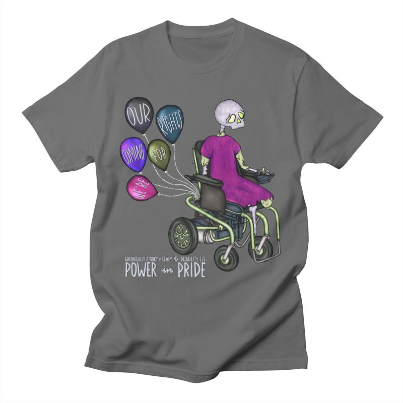 Power in Pride Celebration Tee Chronically Spooky x Claiming Disability LLC Men's T-Shirt by Claiming Disability LLC