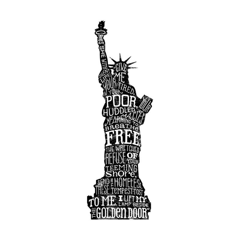 Lady Liberty - Black Textured  Men's T-Shirt by erinillustrates's Artist Shop