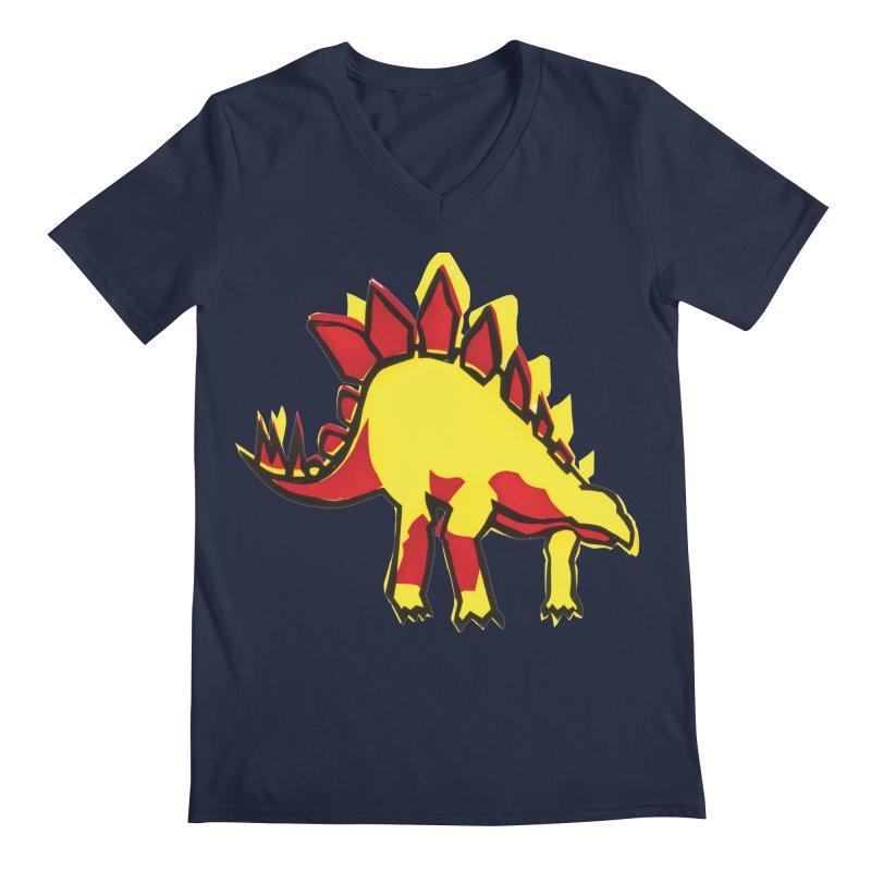 Stegosaurus Men's Regular V-Neck by erintaniguchi's Artist Shop