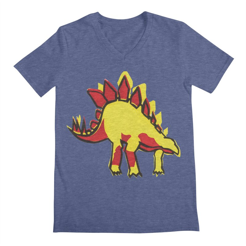 Stegosaurus Men's V-Neck by erintaniguchi's Artist Shop