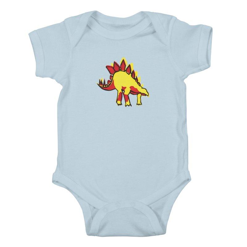Stegosaurus Kids Baby Bodysuit by erintaniguchi's Artist Shop