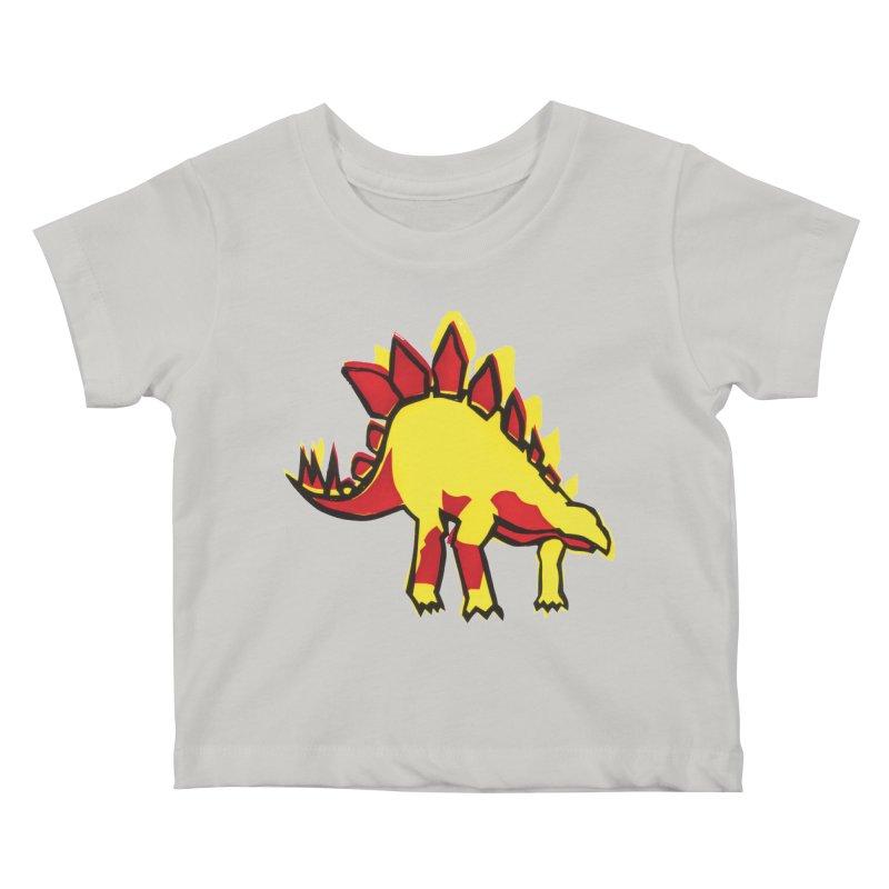 Stegosaurus Kids Baby T-Shirt by erintaniguchi's Artist Shop