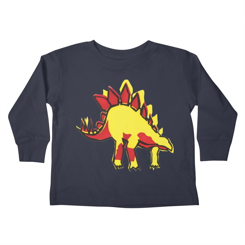 Stegosaurus Kids Toddler Longsleeve T-Shirt by erintaniguchi's Artist Shop