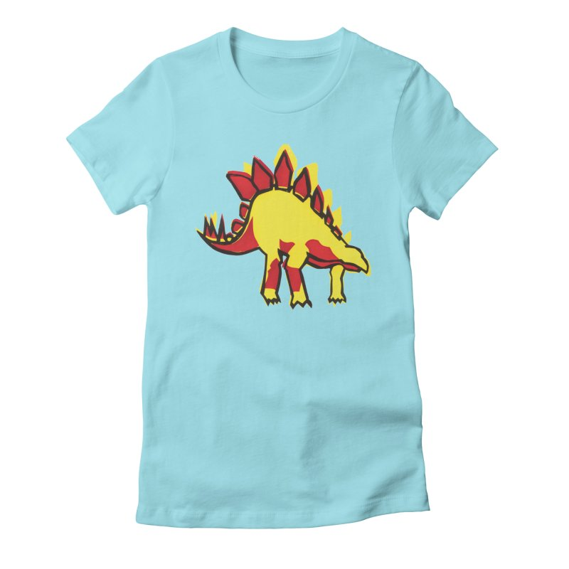 Stegosaurus Women's Fitted T-Shirt by erintaniguchi's Artist Shop