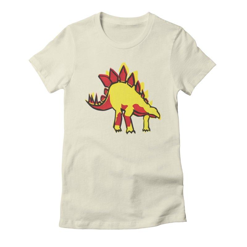 Stegosaurus Women's Fitted T-Shirt by erintaniguchi's Artist Shop