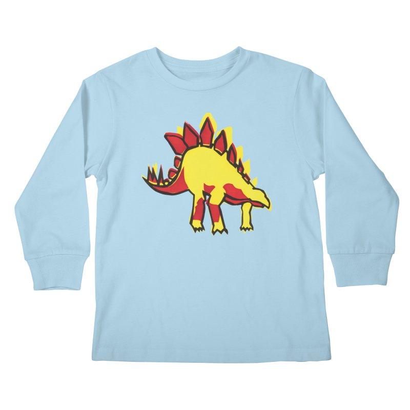 Stegosaurus Kids Longsleeve T-Shirt by erintaniguchi's Artist Shop