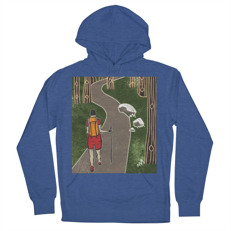 Hiker Men's French Terry Pullover Hoody by erintaniguchi's Artist Shop