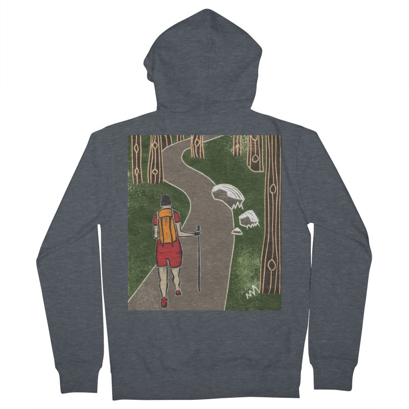 Hiker Women's French Terry Zip-Up Hoody by erintaniguchi's Artist Shop